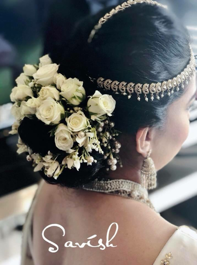 Hair flowers, Kandyan bridal jewellery